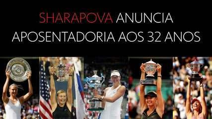 Relembre os cinco Grand Slams de Maria Sharapova
