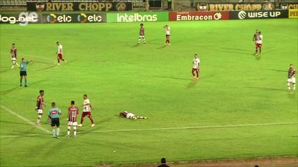 River-PI x América-RN: Carlos Henrique leva a pior em dividida na Copa do Brasil