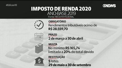 Declaração do Imposto de Renda 2020 começa nesta segunda (2); especialista tira dúvidas