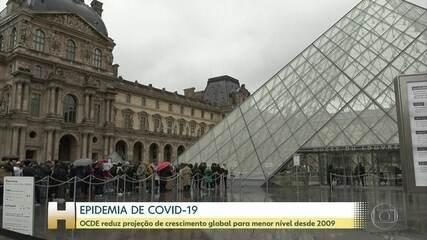 Coronavírus leva OCDE a reduzir projeções para economia global em 2020