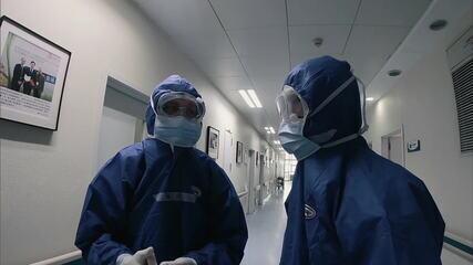Rotina de médicos que combatem novo coronavírus em Wuhan