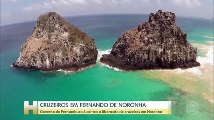 Presidente da Embratur afirmou que trabalha para liberar cruzeiros em Fernando de Noronha