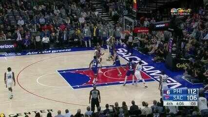 Melhores momentos de Philadelphia 76ers 125 x 108 Sacramento Kings pela NBA