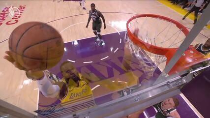 Melhores momentos: Los Angeles Lakers 113 x 103 Milwaukee Bucks pela NBA