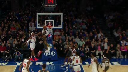Melhores momentos: Oklahoma City Thunder 126 x 103 New York Knicks pela NBA