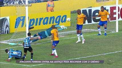 Afastado, Ferreira entra na justiça contra o Grêmio e pede rescisão de contrato