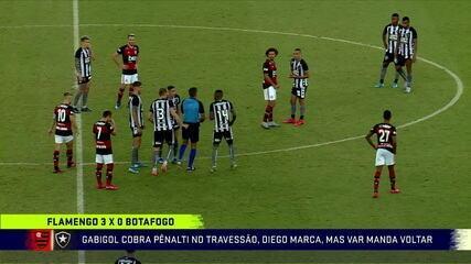 Lances polêmicos do Flamengo 3 x 1 Botafogo pela 2ª rodada da Taça Rio 2020