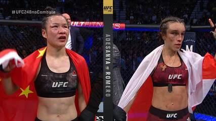 Melhores Momentos de Weili Zhang x Joanna Jedrzejczyk pelo UFC 248 em 07/03/2020