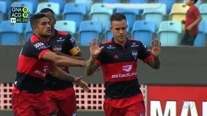 Veja o gol de Gustavo Ferrareis contra o Goiânia