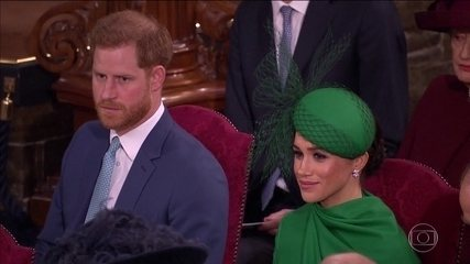 Príncipe Harry e Duquesa Meghan Markle participam de último compromisso oficial