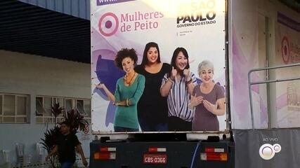 Carreta de exames de mamografia é promovida em Itatiba