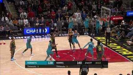 Melhores Momentos: Atlanta Hawks 143 x 138 Charlotte Hornets pela NBA