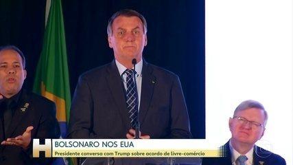 Bolsonaro diz que conversou com Trump sobre livre-comércio entre Brasil e EUA