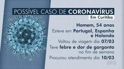 Laboratório particular indica coronavírus em paciente com suspeita da doença em Curitiba