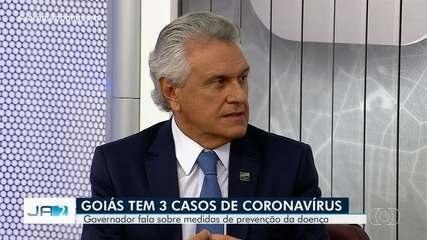 Governador Ronaldo Caiado anuncia medidas para prevenir coronavírus em Goiás