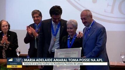 Escritora Maria Adelaide Amaral assume cadeira na Academia Paulista de Letras