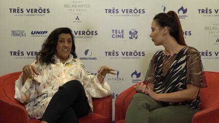 Atriz Regina Casé fala sobre o filme 'Três Verões'