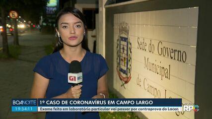 Prefeitura de Campo Largo diz que moradora testou positivo para Covid-19