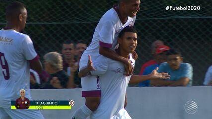 Jacuipense 1 x 0 Vitória: assista ao gol da partida do Campeonato Baiano