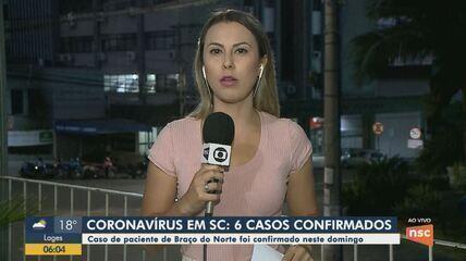 Sobe para 6 o número de casos confirmados do coronavírus em Santa Catarina