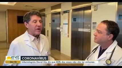Infectologista afirma de 80% dos casos de Coronavírus serão assintomáticos