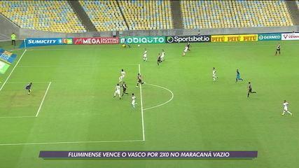 Fluminense vence o Vasco por 2 x 0 no Maracanã vazio