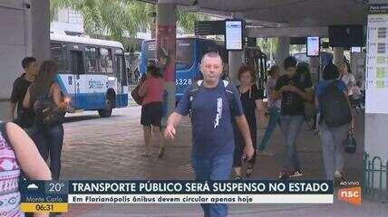 Transporte público funciona até esta quarta-feira em Florianópolis