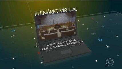 Julgamentos vão poder ocorrer em plenário virtual, segundo STF