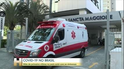 Mãe do 1ª brasileiro que morreu com Covid-19 está preocupada com o marido e filhos