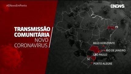 Brasil tem áreas com transmissão comunitária de novo coronavírus em seis estados