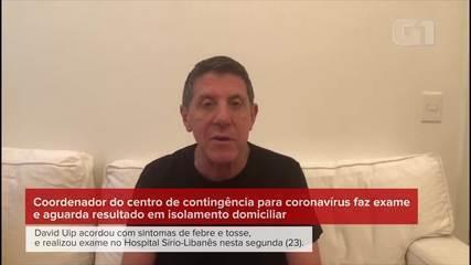 David Uip apresenta sintomas do novo coronavírus, faz exame e aguarda resultado