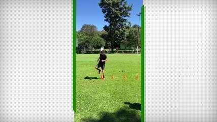 Matheus Ferraz, do Fluminense, segue treinos físicos em casa