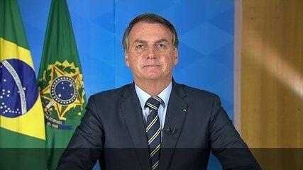 Jair Bolsonaro faz pronunciamento sobre o novo coronavírus