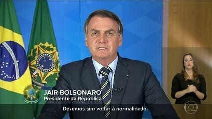 Bolsonaro contraria especialistas e autoridades e pede fim do 'confinamento em massa'