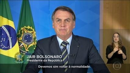 Bolsonaro deixa o país perplexo ao condenar isolamento social em pronunciamento