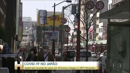 Japão tem recorde de infectados pelo novo coronavírus em 24 horas
