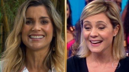 Histórias do Domingão: Gabriela Duarte e Flávia Alessandra contam sua relação com Adriana Esteves