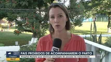 Pais são proibidos de acompanhar partos em hospital do Vale do Itajaí