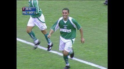 Os gols de Palmeiras 4 x 1 Botafogo pela série B do Brasileirão de 2003