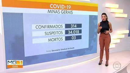 Minas Gerais tem 3 mortes confirmadas pelo novo coronavírus