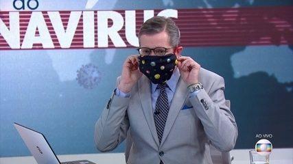 Márcio Gomes explica como é fácil fazer uma máscara de pano