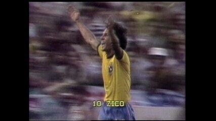Gol Zico Brasil x Nova Zelândia 1982