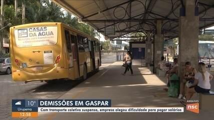 Empresa responsável pelo transporte coletivo em Gaspar confirma demissão de funcionários