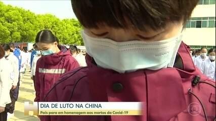 China homenageia os mais de 3.300 mortos por coronavírus no país
