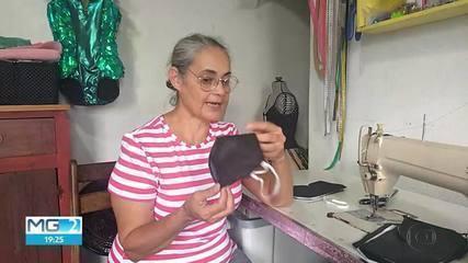 Depois da mudança de postura do Ministério da Saúde, máscaras começam a ser feitas em casa