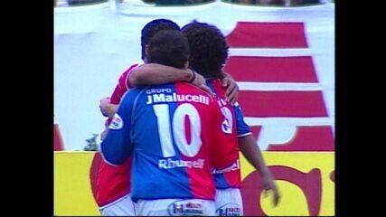 Em 2005, Paraná goleia o Fluminense por 6 a 1 pelo Campeonato Brasileiro