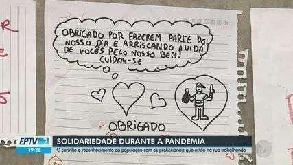 Moradores de Rio Claro e Araras mostram gratidão aos profissionais de saúde