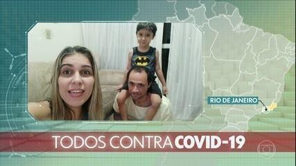Todos contra o coronavírus: brasileiros mostram como está sendo a Páscoa em casa