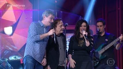 """Fábio Jr., Serginho e Laura Pausini cantam """"Alma Gêmea"""""""