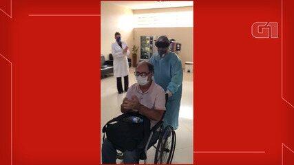 Pacientes curados de coronavírus deixam hospitais em Guaratinguetá